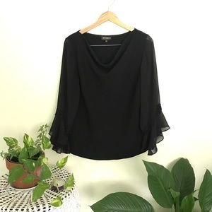 Studio I  | Black Blouse long Sleeve with sequins